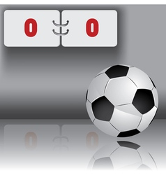 Football ball with panel for score vector
