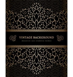 Gold lace background vector image vector image