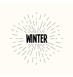 Hand drawn sunburst - winter vector