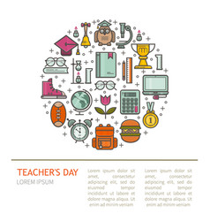 Happy teacher s day vector