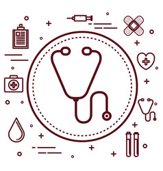 Healthcare related objects design vector