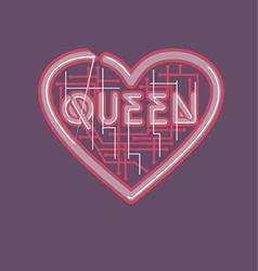 Heart and queen vector