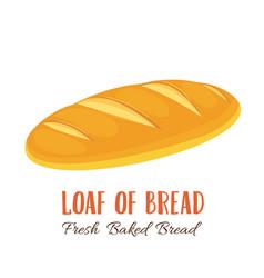 Loaf of bread icon vector