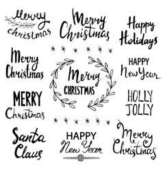 Merry Christmas Happy New Year Happy Holidays vector image