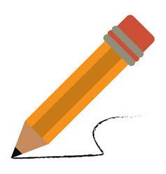 Pencil school utensil wood vector
