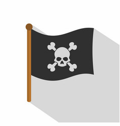 pirate flag icon flat style vector image