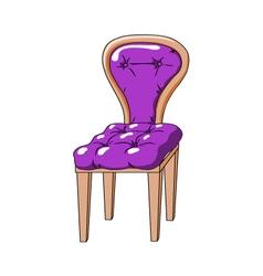 Purple chair vector