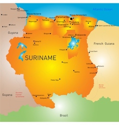 Suriname vector image vector image