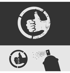Symbol Stencil Like vector image vector image