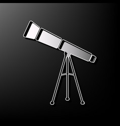 Telescope simple sign gray 3d printed vector