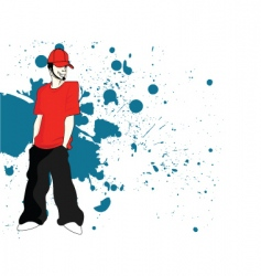 urban rapper vector image