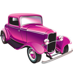 vintage muscle car vector image