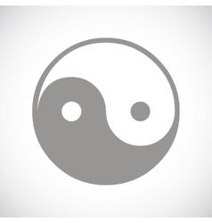 Yin yang black icon vector