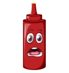 cartoon Tomato Sauce Bottle vector image