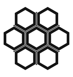 Little honeycomb icon simple style vector