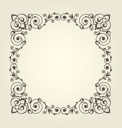 Art nouveau style square frame with stright lines vector