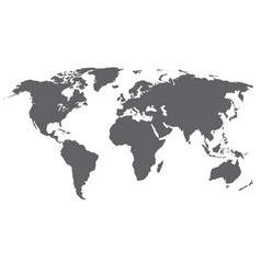 World map grey color isolated on vector