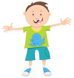 snaggletooth boy cartoon vector image