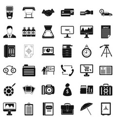 Department icons set simple style vector