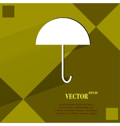 Umbrella flat modern web button on a flat vector