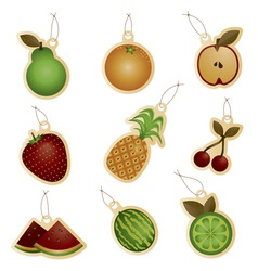 Fruit tags vector