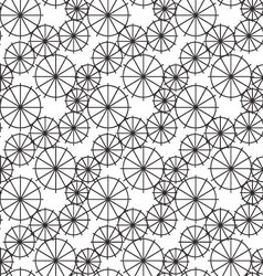 Wheel seamless pattern background vector