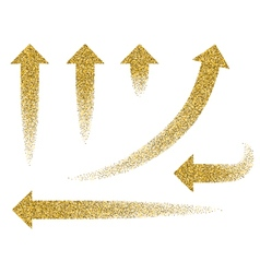 Set gold arrow vector