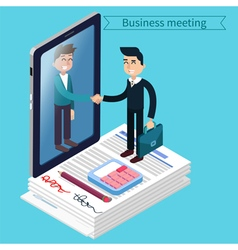 Business meeting isometric people vector