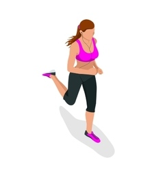 Woman running beautiful girl jogging woman run vector