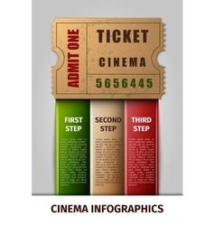 Cinema infographics vector image