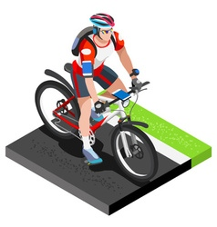 Road cycling cyclist working out isometric image vector