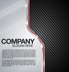 Automotive Chrome Carbon Fiber background vector image