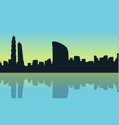 Art of dubai city silhouette scenery vector
