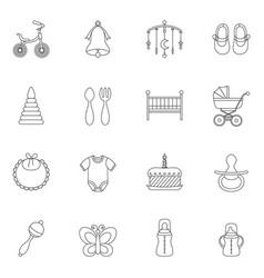 baby line icon vector image vector image
