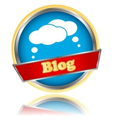 Blog icon vector