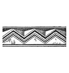Chevron recovery of pottery designs vintage vector