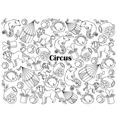 Circus colorless set vector image
