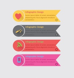 Colorful infographics vector