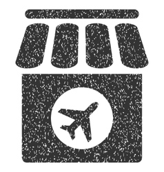 Duty free shop icon rubber stamp vector