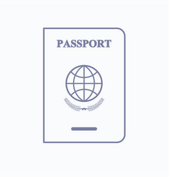 Immigration services passport icon vector