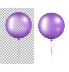 Lilac balloons vector
