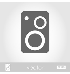 Music speakers icon vector