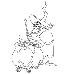 outlined witch brew vector image vector image