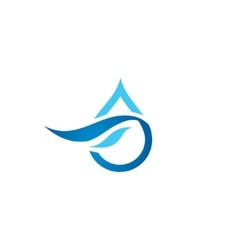 Premium pure water abstract sign vector