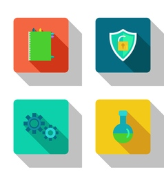 Protection and interaction flat icons vector