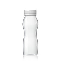 realistic plastic bottle for yogurt vector image vector image