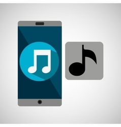 Smartphone music note online vector