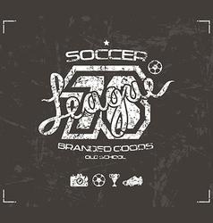 Soccer club emblem vector