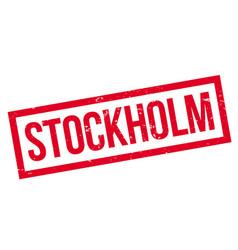 stockholm rubber stamp vector image vector image