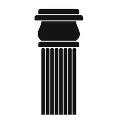 Stone column icon simple style vector